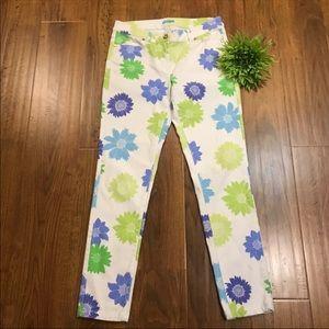 J.McLaughlin floral skinny jeans